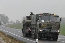 Vojáci vezli svitavským okresem  tanky. Neobvyklé vozidlo jsme  zaznamenali na silnici u Janova.