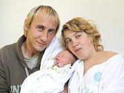 KRISTÝNA PEŘINOVÁ. Narodila se 20. října v 16.17 hodin. Vážila 2,68 kilogramu a měřila 49 centimetrů. S rodiči Lucií a Martinem bydlí v Březové nad Svitavou.