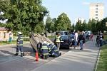 Kuriozní nehoda v Lánech.