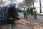 Havárie osobního automobilu u obce Lezník.