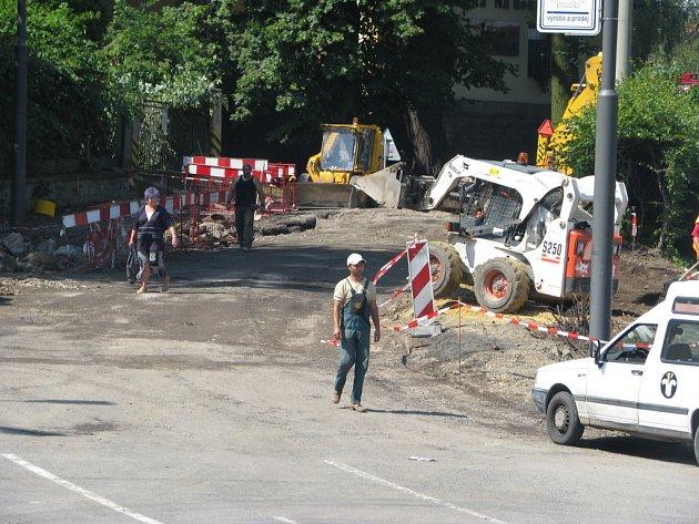 Výstavba kruhového objezdu v Litomyšli na silnici I/35