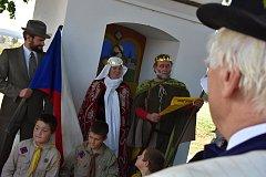 V Sebranicích oslavili svatého Václava i 100 let od vzniku Česko-slovenské republiky.