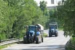 Zemědělci ze svitavského okresu se dnes připojili k protestní akci.