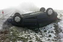 Dopravní nehoda u Koclířova se obešla bez zranění.