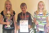 Odměny si odnesli i žáci 5. A třídy Základní školy v Palackého ulici v Moravské Třebové, kteří obdrželi diplom a medaile za třetí místo v atletickém čtyřboji.