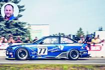 """""""Žihadlo"""" na trati. Za volantem tohoto modrého BMW M3 """"pobil"""" Michal Svozil v minulé sezoně celou domácí konkurenci. I proto by se rád posunul do sestavy české reprezentace."""
