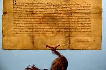 První písemná zmínka o Jevíčku. Konfirmační listina římského krále Karla IV. vydaná v roce 1351, v níž je obsažen text starší, dnes nedochované listiny krále Přemysla Otakara II. z 6. srpna 1258.