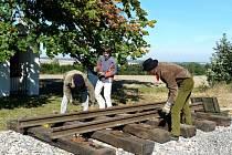 Nejkratší železniční trať v Sebranicích.