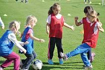 Nábor malých fotbalistů ve Svitavách.