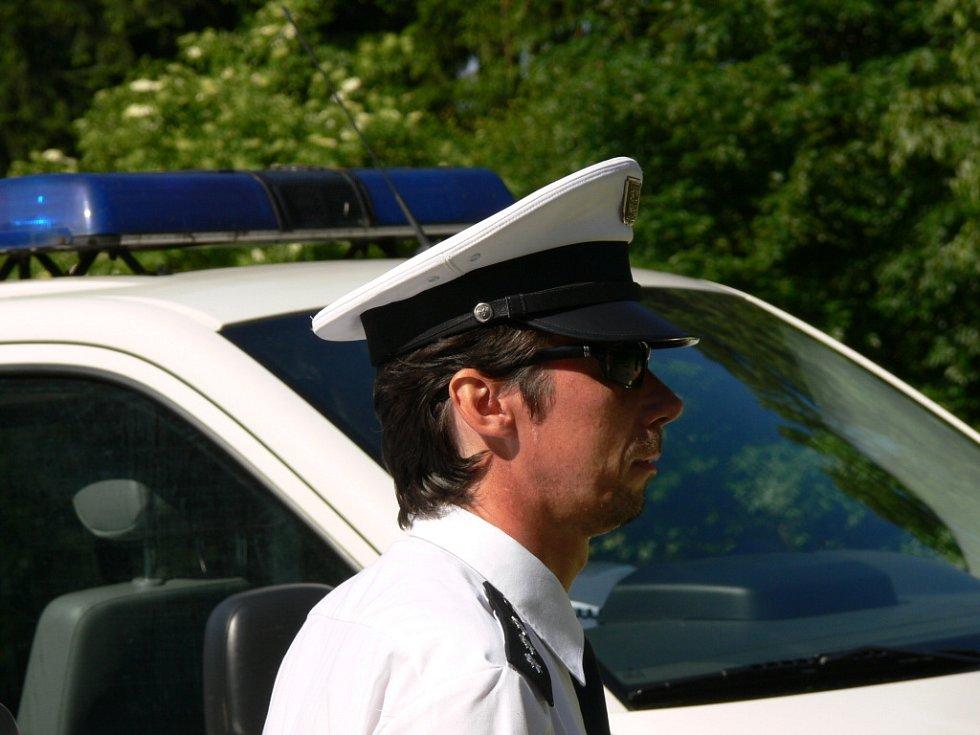 Policejní akce u Březové nad Svitavou.