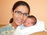 JIŘÍ BARÁK. Narodil se 27. října ve 13.49 hodin. Vážil 3,65 kilogramu a měřil 51 centimetrů. S rodiči Kateřinou a Martinem bydlí ve Svitavách.