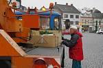 Svitavské náměstí je přichystáno na vánoce.