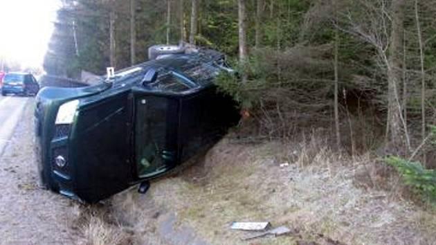 K havárii na silnici I. třídy u Žipotína došlo v neděli 10. února.