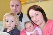 ZUZANA JANEČKOVÁ.  Holčička přišla na svět v litomyšlské porodnici 12. září v 19.53 hodin. Vážila 3,1 kilogramu a měřila 47 centimetrů. Bude vyrůstat s rodiči Jaromírou a Romanem a tříletou sestřičkou Terezkou v Cerekvici nad Loučnou.