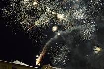 Tradiční ohňostroj v Litomyšli.