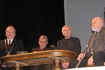 Udílení čestných občanství v Litomyšli. Leden 2009.