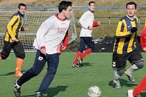 Svitavský celek (v pruhovaném) měl v utkání s Boskovicemi převahu, kterou vyjádřil i střelecky.