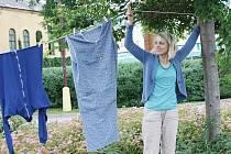 Na kruháku vlaje velké prádlo.