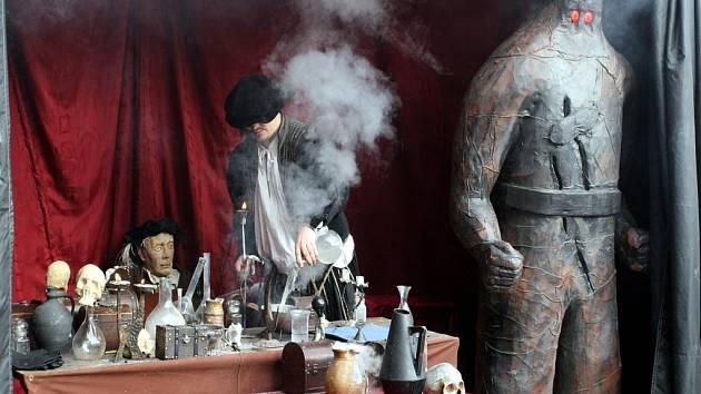 Interaktivní expozice -  Alchymistická laboratoř mistra Bonaciny.