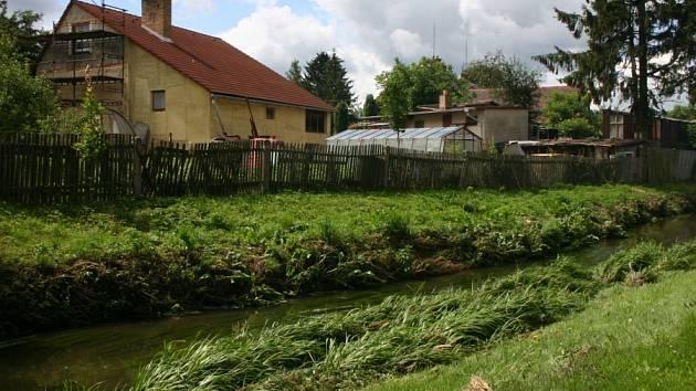 Neposekaná tráva na březích řeky a odpadky v korytě zvyšují riziko povodní.
