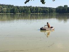Rybník Rosnička u Svitav je bez života. Podle rybářů všechny ryby uhynuly.