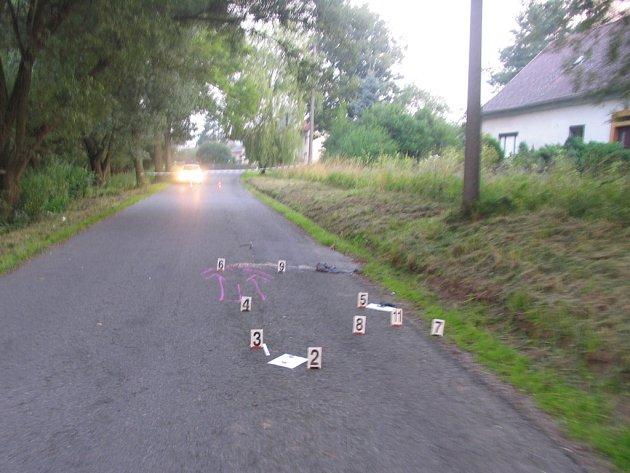 Tragická nehoda v Boršově, chodec nepřežil