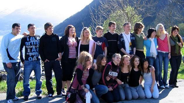 Studenti poličského gymnázia a učitelé na jarním setkání v Bergenu.