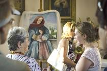 Nový obraz svaté Anny v kapličce