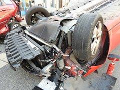 Nehoda v Březové nad Svitavou. Foto: Policie ČR Svitavy