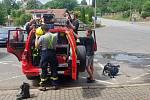 یک گروه از آتش نشانان داوطلب از بودیسلاو بعد از ظهر جمعه برای کمک به موراویا رفتند.