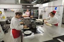 Kuchyně studentů ISŠ Moravská Třebová.
