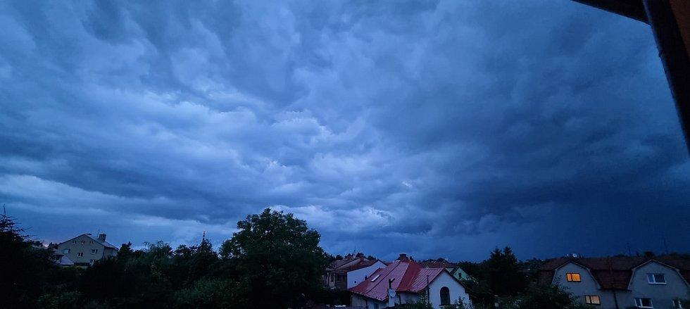 Nebe nad Litomyšlí