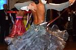 Olympiáda dětí a mládeže v Litomyšli. Sportovci předvedli svůj um v tanečních disciplínách na ledové ploše.