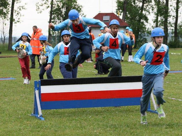 Krajské  kolo soutěže mladých hasičů se konalo  v sobotu ve sportovním areálu ve Vítějevsi.