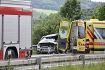 V sobotu po čtrnácté hodině záchranáři vyjížděli k nehodě tří aut na silnici I/35 u Moravské Třebové.