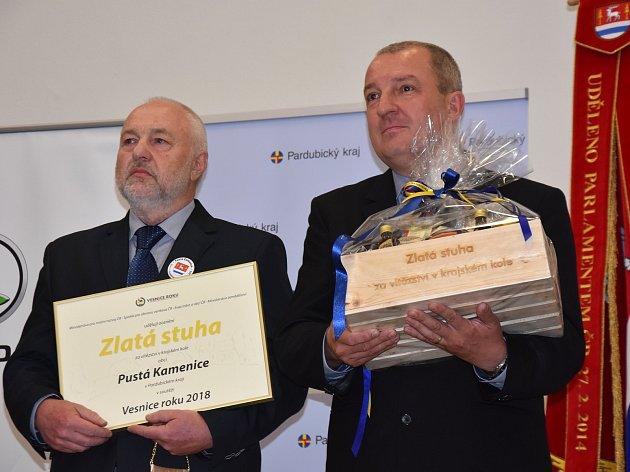 Slavnostní vyhlášení vesnice roku v Pusté Kamenici.