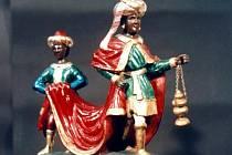 Svitavský betlém je v poslední době často zmiňovaný. Na fotografii je figurka z kostelního betlému.