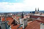 Pohled z věže litomyšlského zámku.