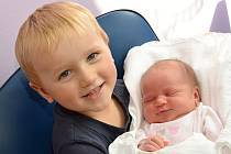 ELIŠKA ZERZÁNKOVÁ. Narodila se 26. září Michaele a Liborovi ze Svitav. Měřila 50 centimetrů a vážila 3,65 kilogramu. Má bráchu Ivánka.