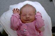 ADÉLA VAŠÁKOVÁ. Narodila se 4. března Pavle a Marcelovi z Vendolí. Měřila 46 centimetrů a vážila 2,88 kilogramu. Má sestřičku Kláru.