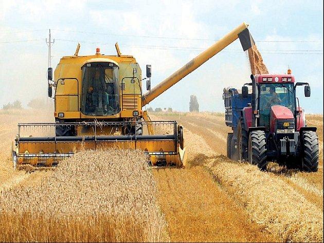 Ilustrační foto: Kombajny na polích na Litomyšlsku budou vyjíždět na pole jen do konce týdne.
