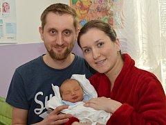 LADISLAV JÍLEK. Narodil se 3. února Kamile a Ladislavovi z Poličky. Měřil 52 centimetrů a vážil 3,35 kilogramu.