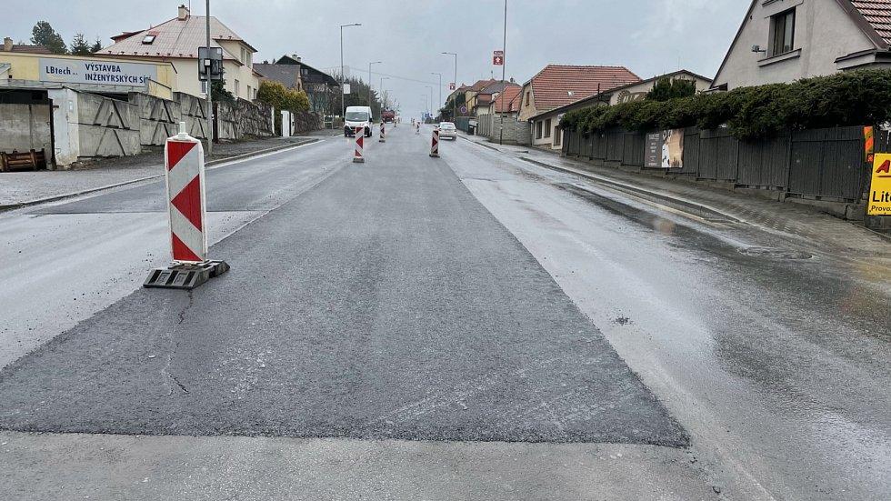 Oprava asfaltového krytu na výjezdu z Litomyšle