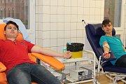 Studenti Střední zdravotnické školy Svitavy darovali krev.