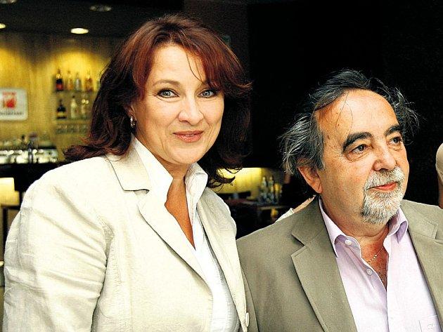 Herečka Zlata Adamovská a režisér Dušan Klein.