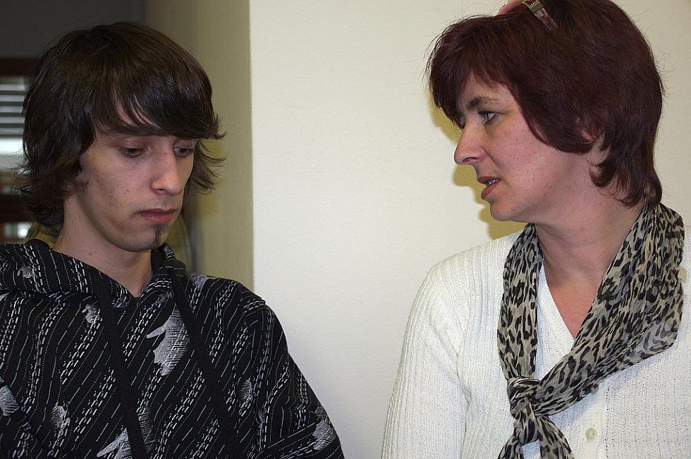 Ondřej Réda se svou matkou.