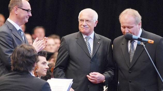Poprvé v historii Smetanovy Litomyšle přijel prezident České republiky Václav Klaus.