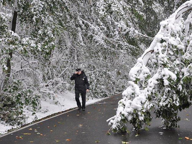Situace na Hřebči v pátek 16. října 2009.