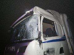 Srážka kamionů mezi obcemi Studená Loučka a Moravská Třebová.