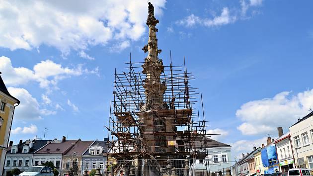 Polička pamatuje ve svém rozpočtu i na opravu památek. V letošním roce dokončí opravu morového sloupu na náměstí.